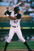 1997: Derrek Lee of the Las Vegas Stars in action during the 1997 season in Las Vegas,NV.  Photo by Larry Goren/Four Seam Images