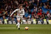 3rd February 2019, Santiago Bernabeu, Madrid, Spain; La Liga football, Real Madrid versus Alaves; Luka Modric (Real Madrid) breaks forward on the ball