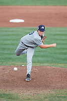 West Michigan Whitecaps relief pitcher Billy Lescher (38) delivers a pitch during a game against the Quad Cities River Bandits on July 22, 2018 at Modern Woodmen Park in Davenport, Iowa.  West Michigan defeated Quad Cities 6-4.  (Mike Janes/Four Seam Images)