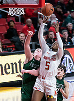 COLLEGE PARK, MD - DECEMBER 8: Kaila Charles #5 of Maryland goes up for a shot during a game between Loyola University and University of Maryland at Xfinity Center on December 8, 2019 in College Park, Maryland.