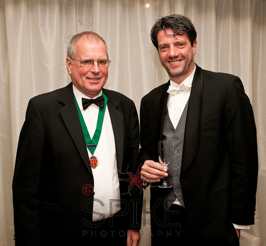 John Britten, Past President Notts Law Society, (left) with Stef Bulke, MB Advocaten