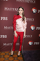 LOS ANGELES - FEB 1:  Lily Collins at the Masterpiece Photo Call at the Langham Huntington Hotel on February 1, 2019 in Pasadena, CA