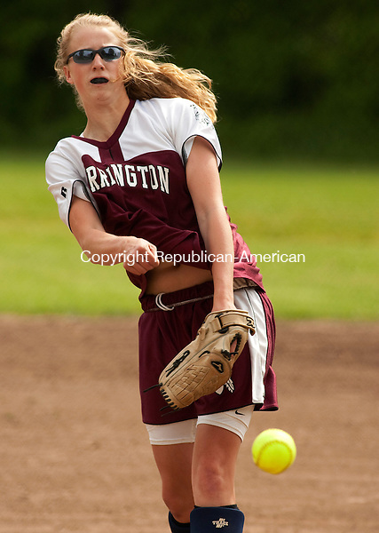 WATERBURY CT- MAY 17 2010-051710JS02-Torrington's Chelsea Matzko (20) delivers a pitch during their game against Kennedy Monday at Kennedy High School in Waterbury.<br /> Jim Shannon Republican-American
