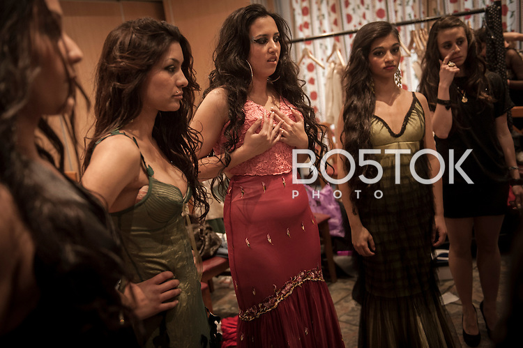Miss Gitana Euskadi 2014 beauty contest. Urnieta (Basque Country) April 8, 2014.2nd. Miss Gitana is an annual pageant that is run by association Miss Gitana, an association of Gypsy women which is dedicated to creating events for the Roma women. After being choosed several girls from diferent territories, a bigger contest is celebrated to select the Miss Gitana of Spanish State.(Gari Garaialde / Bostok Photo)