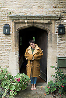 Annuska outside Twywell Manor House in North Hamptonshire, England.