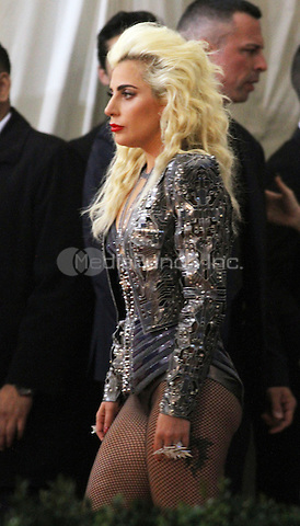 05 02 2016:  Lady Gaga at Manus X Machina: Fashion In An Age of Technology at Metropolitan Museum of Art in New York. Credit:RWMediaPunch