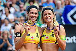 26.08.2017, Hamburg, Stadion Am Rothenbaum<br />Beachvolleyball, World Tour Finals<br /><br />1. Platz / Gold / Goldmedaille: Kira Walkenhorst (#2 GER) und Laura Ludwig (#1 GER)<br /><br />  Foto © nordphoto / Kurth