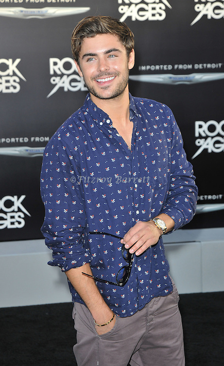 Zac Efron at the world premiere of Rock of Ages, held at the Grauman's Chinese Theater in Hollywood, CA. June 8, 2012