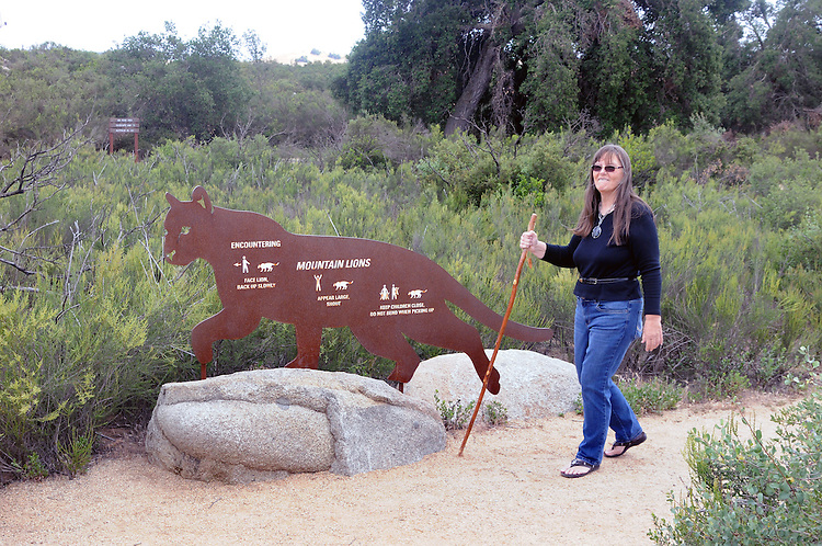 Ginny Christensen, on a hike thru Santa Roas Plateau Ecological Reserve, in Murrieta, CA, on Saturday, April 30, 2016. Photo by Jim Peppler. Copyright Jim Peppler  2016.