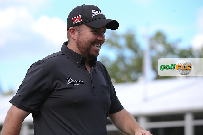 Shane Lowry (IRL) secures runner-up spot behind Rory McIlroy (NIR) during the Final Round of the BMW PGA Championship from Wentworth Golf Club, Virginia Waters, London, UK. Picture:  David Lloyd / www.golffile.ie