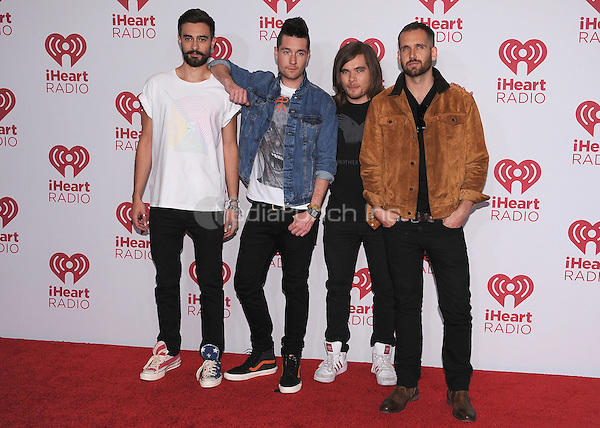LAS VEGAS, NV - SEPTEMBER 19:  Bastille at the 2014 iHeartRadio Music Festival at the MGM Grand Garden Arena on September 19, 2014 in Las Vegas, Nevada. PGSK/MediaPunch