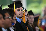 Graduate Dillon&nbsp;Hekhuis looks at the crowd during the 45th annual Western Nevada College Commencement ceremony in Carson City, Nev., on Monday, May 23, 2016. A record 556 graduates received 598 degrees.<br />