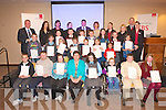 HANDWRITING AWARDS: The winner's of the Kerry region EBS-INTO Handwriting Competition who received their awards at the Carlton hotel, Tralee on Monday.