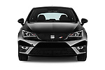 Car photography straight front view of a 2016 Seat Ibiza-SC Cupra 5 Door Hatchback Front View