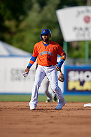 New York Mets Robinson Cano (4), on rehab assignment with the Syracuse Mets, running the bases during a game against the Charlotte Knights on June 11, 2019 at NBT Bank Stadium in Syracuse, New York.  (Mike Janes/Four Seam Images)