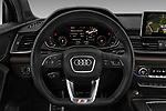 Car pictures of steering wheel view of a 2018 Audi SQ5 Base 5 Door SUV