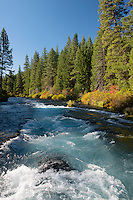 Wizard Falls on the  Metolius River<br /> Deschutes National Forest<br /> Cascade Range<br /> Jefferson County,  Oregon