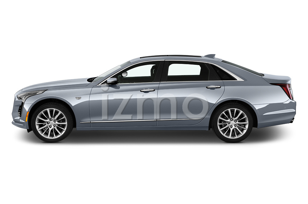 Car Driver side profile view of a 2019 Cadillac CT6 Premium-Luxury 4 Door Sedan Side View