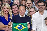 SÃO PAULO, SP, 28.10.2018 –ELEIÇÕES 2018–O governador eleito do estado de São Paulo, João Doria (PSDB), em discurso após anúncio da vitória, no Club Homs, neste domingo 28. (Foto: Danilo Fernandes/Brazil Photo Press)