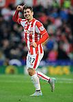 Bojan Krkic of Stoke City celebrates scoring his goal to make it 1-0<br /> - Barclays Premier League - Stoke City vs Manchester United - Britannia Stadium - Stoke on Trent - England - 26th December 2015 - Pic Robin Parker/Sportimage