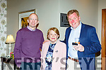 Padraig and Ann O'Shea with Vince Casey at the Dr Crokes GAA celebration social in the Gleneagle Hotel on Sunday night