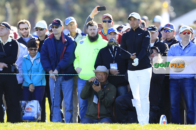 Jason Day (AUS) prepares to tee off the 13th tee during Friday's Round 2 of the 2017 Farmers Insurance Open held at Torrey Pines Golf Course, La Jolla, San Diego, California, USA.<br /> 27th January 2017.<br /> Picture: Eoin Clarke | Golffile<br /> <br /> <br /> All photos usage must carry mandatory copyright credit (&copy; Golffile | Eoin Clarke)