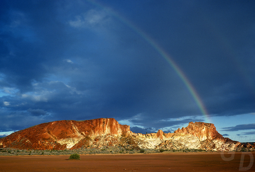 A very rare Rainbow over Rainbow Valley, Northern Territory, Australia