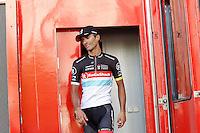 Daniele Bennati after the stage of La Vuelta 2012 beetwen Aguilar de Campoo-Valladolid.September 6,2012. (ALTERPHOTOS/Paola Otero) /NortePhoto.com<br /> <br /> **CREDITO*OBLIGATORIO** <br /> *No*Venta*A*Terceros*<br /> *No*Sale*So*third*<br /> *** No*Se*Permite*Hacer*Archivo**<br /> *No*Sale*So*third*