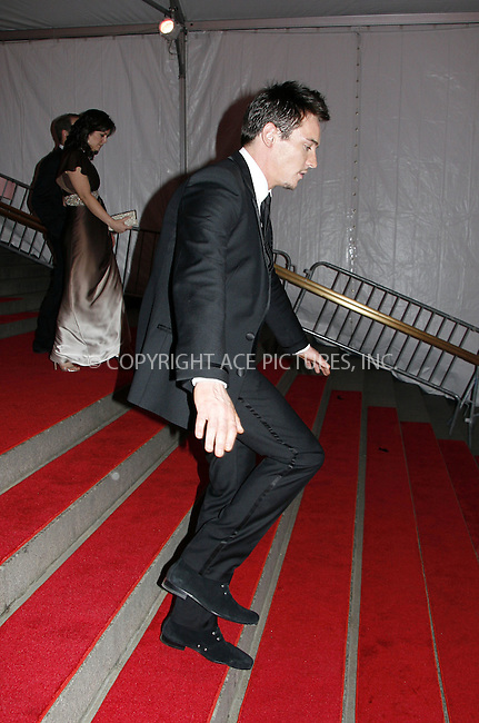WWW.ACEPIXS.COM . . . . .....May 5, 2008. New York City.....JonathanRhys Meyers leaving the 'Superheroes: Fashion and Fantasy' Costume Institute Gala at The Metropolitan Museum of Art...  ....Please byline: NANCY RIVERA - ACEPIXS.COM.... *** ***..Ace Pictures, Inc:  ..Philip Vaughan (646) 769 0430..e-mail: info@acepixs.com..web: http://www.acepixs.com