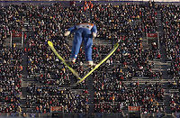 Qualification round of the K120 Ski Jump Tuesday morning at the Utah Olympic Park, 2002 Olympic Winter Games.; 02.12.2002, 8:54:08 AM<br />