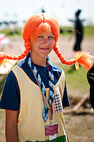 A girl dressed as pippi longstocking at the cultural festival day in winter. Photo: Audun Ingebrigtsen / Scouterna