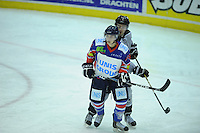 IJSHOCKEY: HEERENVEEN: IJsstadion Thialf, 02-02-2013, Eredivisie, UNIS Flyers - Amsterdam G's, Eindstand: 9-2, Kevin Nijland (#84 | Flyers), ©foto Martin de Jong