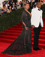 "NEW YORK CITY, NY, USA - MAY 05: Beyonce, Jay-Z at the ""Charles James: Beyond Fashion"" Costume Institute Gala held at the Metropolitan Museum of Art on May 5, 2014 in New York City, New York, United States. (Photo by Xavier Collin/Celebrity Monitor)"