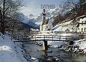 Gerhard, CHRISTMAS LANDSCAPE, photos, DBayern.Die Kirche in der Ramsau(DTMB560-10,#XL#)