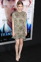 "WESTWOOD, LOS ANGELES, CA, USA - APRIL 10: Kate Mara at the Los Angeles Premiere Of Warner Bros. Pictures And Alcon Entertainment's ""Transcendence"" held at Regency Village Theatre on April 10, 2014 in Westwood, Los Angeles, California, United States. (Photo by Xavier Collin/Celebrity Monitor)"