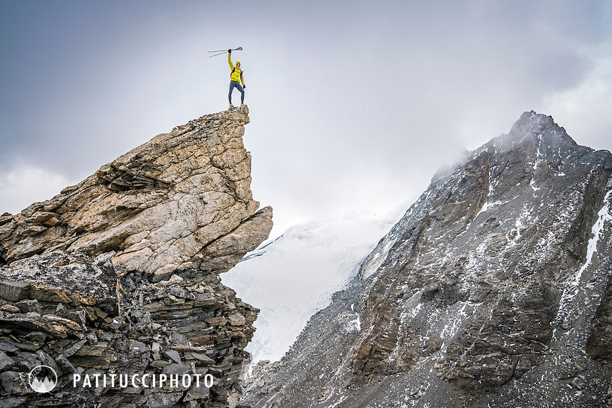 Ueli Steck on an acclimitization training day during his climbing expedition to the 8000 meter peak Shishapangma, Tibet