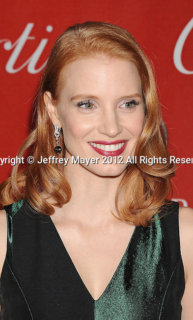 PALM SPRINGS, CA - JANUARY 07: Jessica Chastain  arrives at the 2012 Palm Springs Film Festival Awards Gala at the Palm Springs Convention Center on January 7, 2012 in Palm Springs, California.