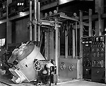 Pittsburgh PA:  View of Swindell Dressler Furnace at Allegheny Steel Company - 1936.  Swindell Dressler International Company was based in Pittsburgh, Pennsylvania. The company was founded by Phillip Dressler in 1915 as American Dressler Tunnel Kilns, Inc.  In 1930, American Dressler Tunnel Kilns, Inc. merged with William Swindell and Brothers to form Swindell-Dressler Corporation. The Swindell brothers designed, built, and repaired metallurgical furnaces for the steel and aluminum industries. The new company offered extensive heat-treating capabilities to heavy industry worldwide.