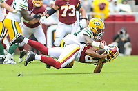 Landover, MD - September 23, 2018: Washington Redskins tight end Jordan Reed (86) catches a pass during the  game between Green Bay Packers and Washington Redskins at FedEx Field in Landover, MD.   (Photo by Elliott Brown/Media Images International)