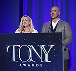 on stage during the 2017 Tony Awards Nominations Announcement at The New York Public Library for the Performing Arts on May 2, 2017 in New York City
