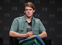 """BEVERLY HILLS - AUGUST 6: Cast Member Joe Alwyn onstage during the """"A Christmas Carol"""" panel at the FX Networks portion of the Summer 2019 TCA Press Tour at the Beverly Hilton on August 6, 2019 in Los Angeles, California. (Photo by Frank Micelotta/FX Networks/PictureGroup)"""