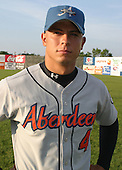 August 16, 2003:  Pitcher Mike Patitucci of the Aberdeen Ironbirds, Class-A affiliate of the Baltimore Orioles, during a game at Falcon Park in Auburn, NY.  Photo by:  Mike Janes/Four Seam Images