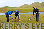 Sunday Night's Storm: Workers cleaning up the stones & debris on the  17th fairway in  Ballybunion Golf club after the water came in over the gabions & perimeter in Sunday night's storm.