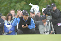 Ryder Cup 206 K Club, Straffin, Ireland...American Ryder Cup team player Tiger Woods on the green of the third hole during  the  morning fourballs session of the second day of the 2006 Ryder Cup at the K Club in Straffan, Co Kildare, in the Republic of Ireland, 23 September 2006...Photo: Eoin Clarke/ Newsfile.