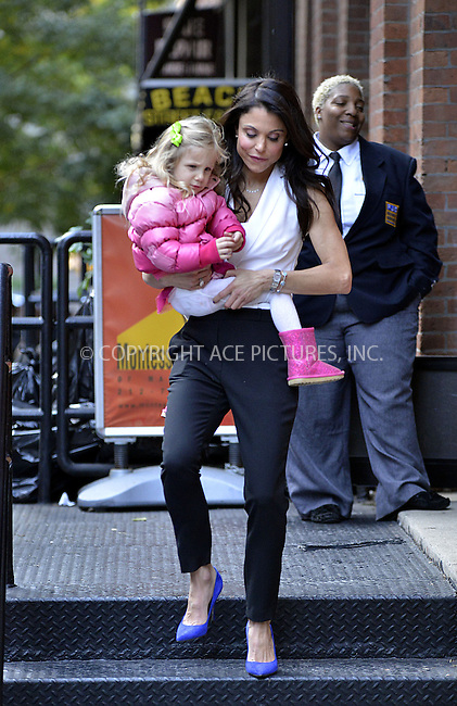 WWW.ACEPIXS.COM<br /> <br /> October 28 2013, New York City<br /> <br /> TV personality Bethenny Frankel picks up her daughter Bryn Hoppy from school on October 28 2013 in New York City<br /> <br /> By Line: Curtis Means/ACE Pictures<br /> <br /> <br /> ACE Pictures, Inc.<br /> tel: 646 769 0430<br /> Email: info@acepixs.com<br /> www.acepixs.com