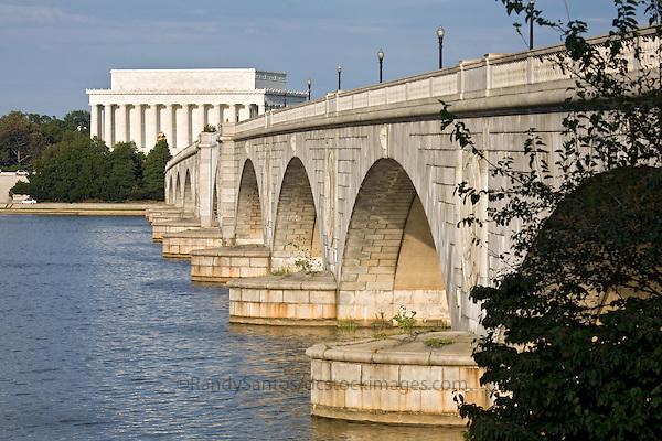 Memorial Bridge Lincoln Memorial Washington DC