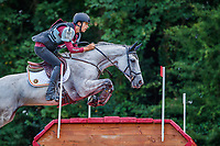 BEL-Senne Vervaecke rides Feebe Van Alsingen during the Cross Country for the CCIO4*-S FEI Nations Cup Eventing. 2019 FRA-Le Grand Complet at Le Haras du Pin. Saturday 10 August. Copyright Photo: Libby Law Photography