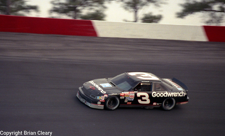 Dale Earnhardt (3) Chevrolet 1st place winner Atlanta Journal 500 at Atlanta International Raceway in Hampton , GA on November 19, 1989.  (Photo by Brian Cleary/www.bcpix.com)
