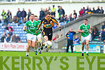 Mikey Collins Austin Stacks in action against James Walsh Saint Kierans in the Quarter Finals of the County Championship at Austin Stack Park on Sunday.