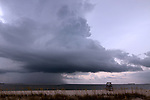 A Storm forming on the Gulf near Pensacola Beach